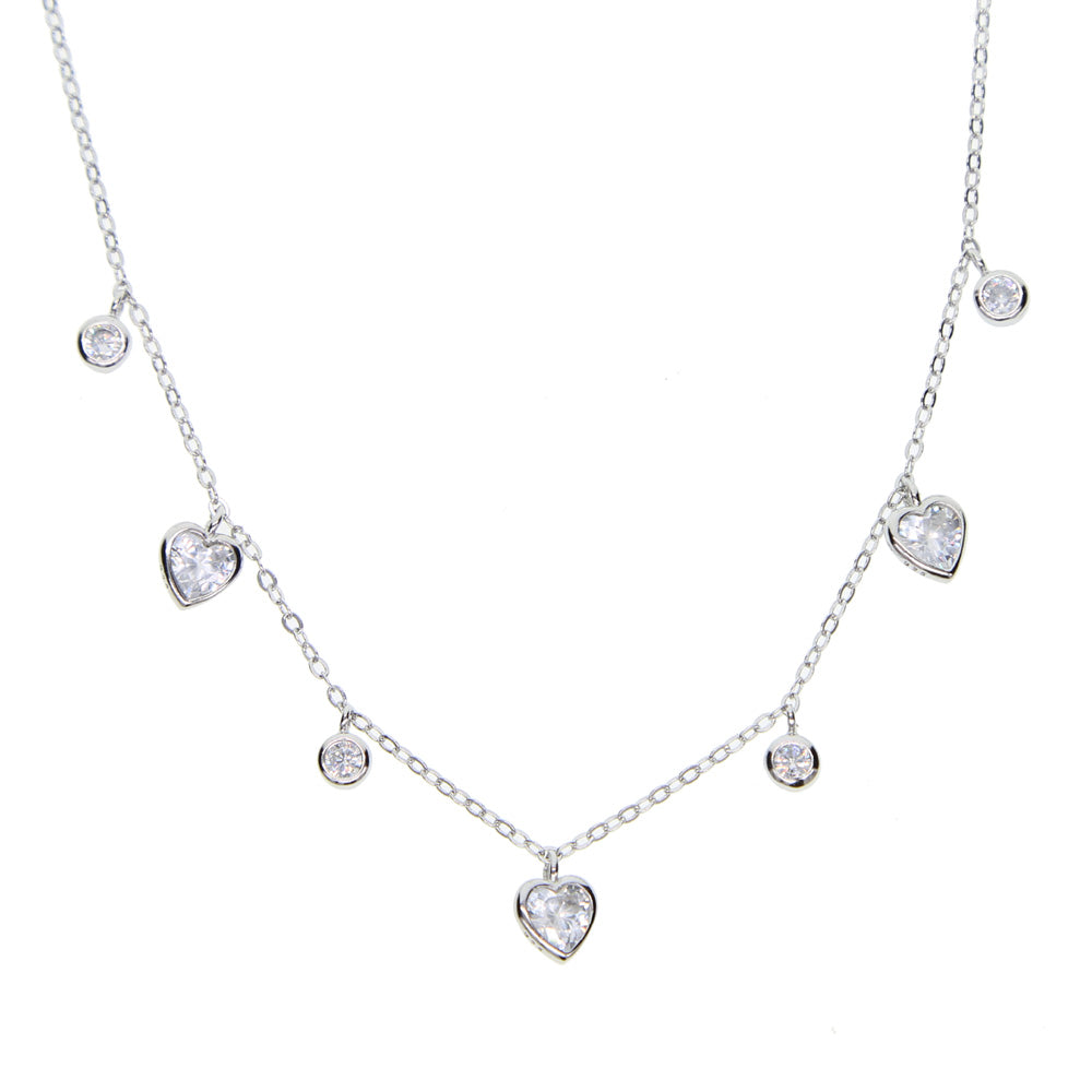 Heart Drop Charm Choker - Spear and Stone