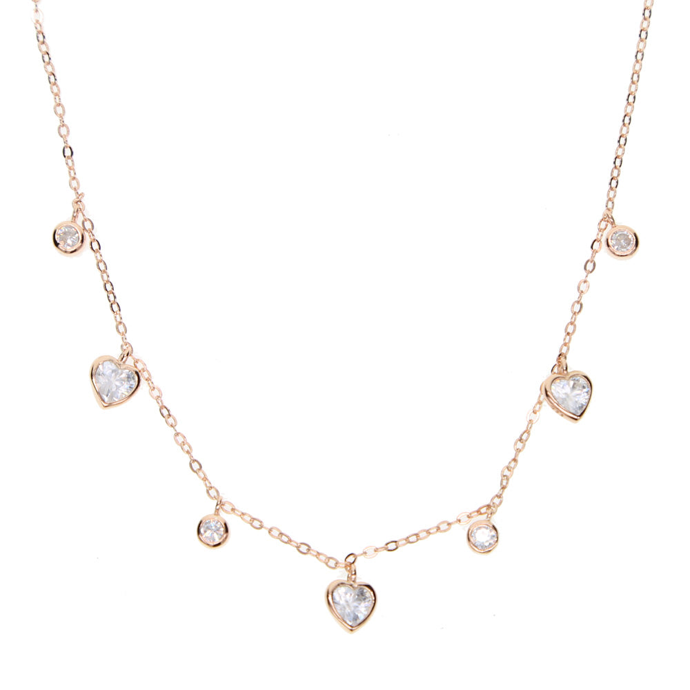 Heart Drop Charm Choker
