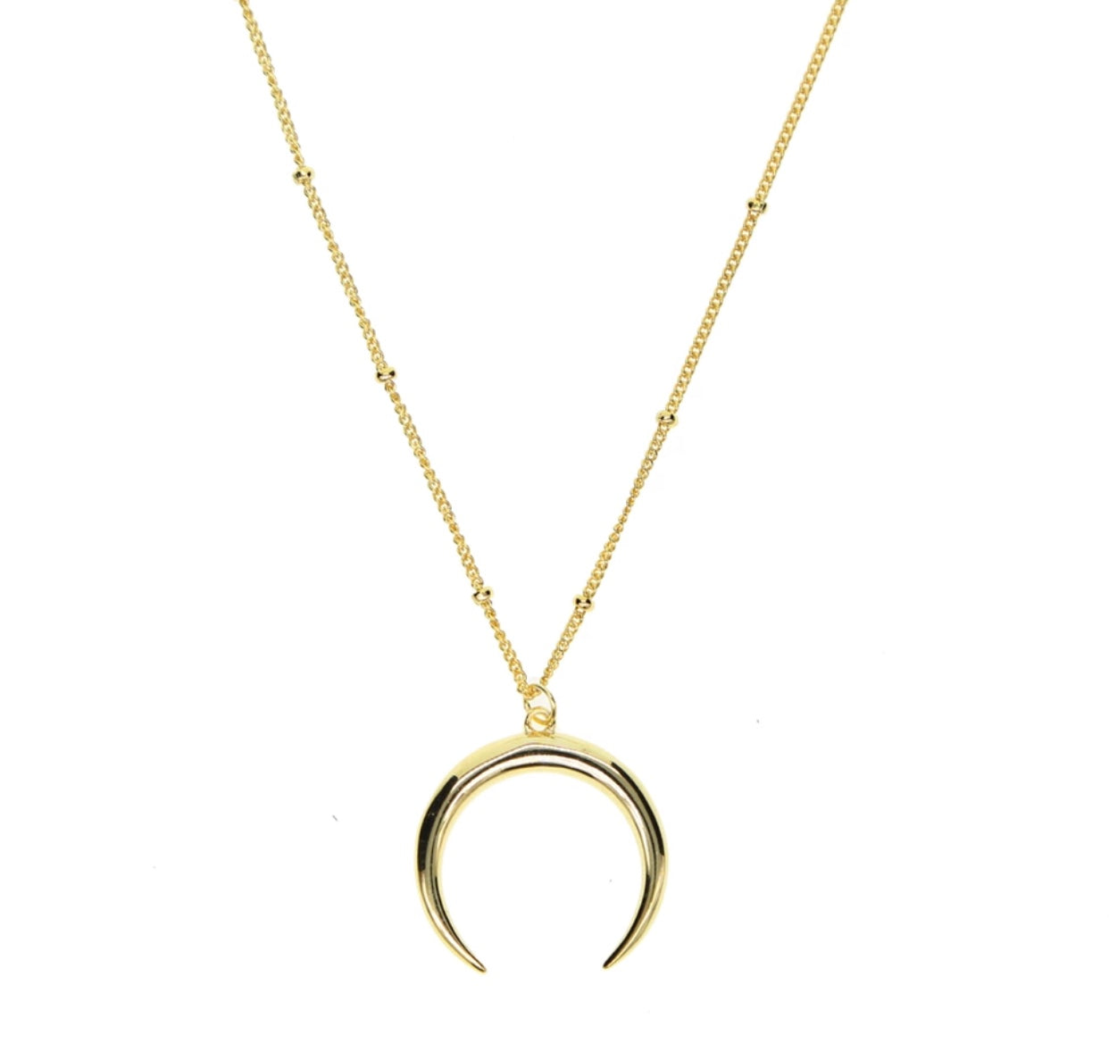 Solid Crescent Necklace - Spear and Stone