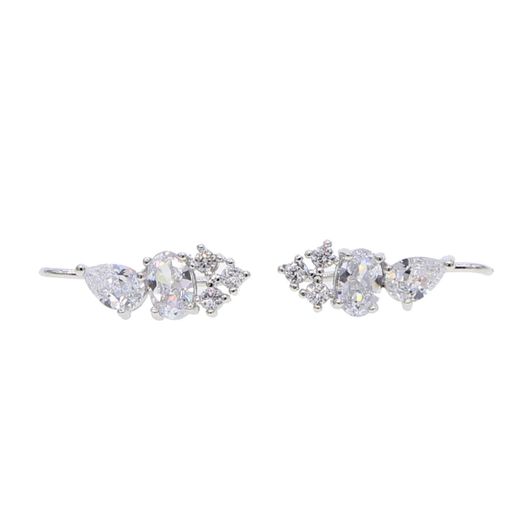 Crystal Shine Climber Earrings - Spear and Stone