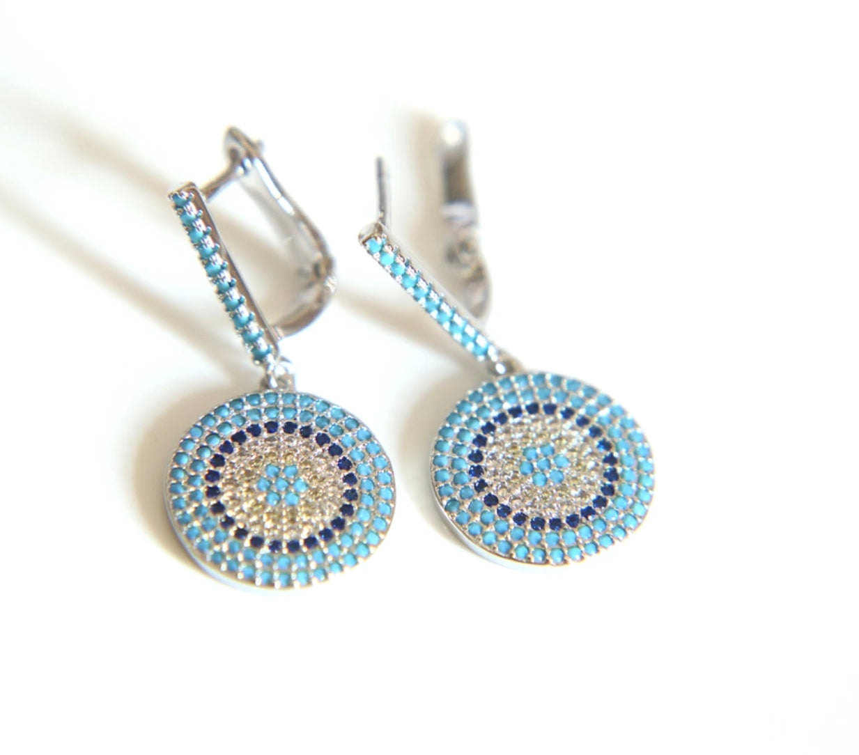 Evil Eye Drop Earrings - Spear and Stone