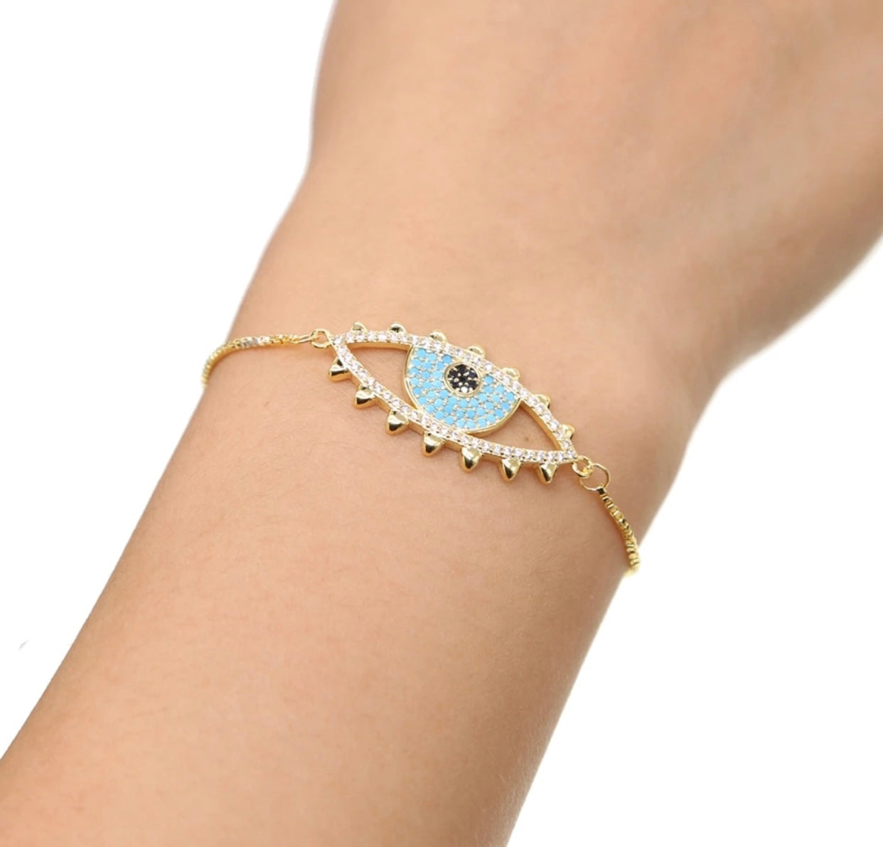 Evil Eye Adjustable Bracelet - Spear and Stone