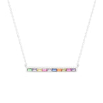 Rainbow Bar Neckalce