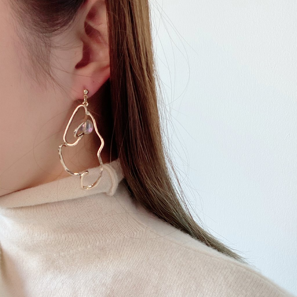 Radiation Twoways Chain Earrings - Spear and Stone