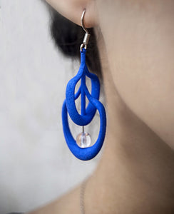 Petal Earrings in Blue