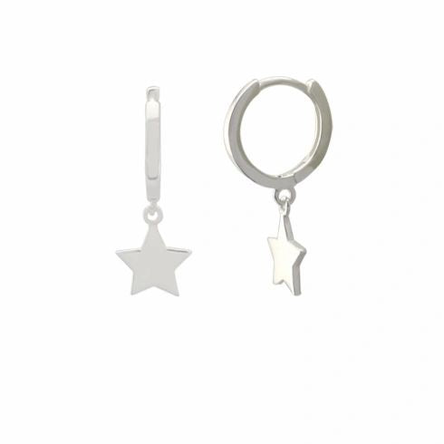 Star Drop Charm Huggies