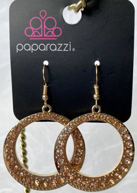 Paparazzi Earrings in Gold with Copper