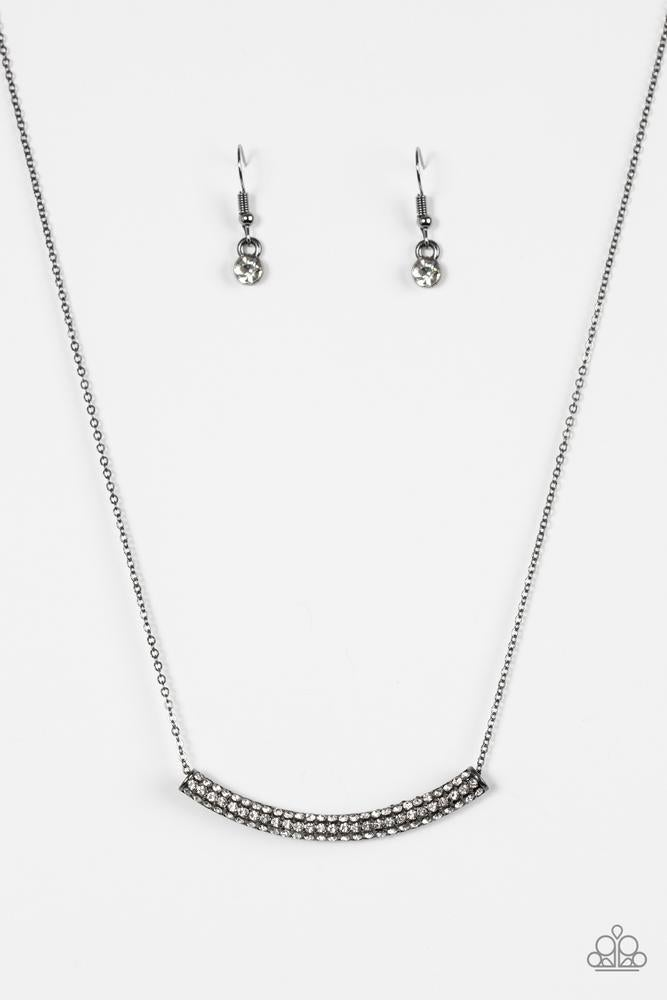 Paparazzi necklace set in Gun Metal with Black accents