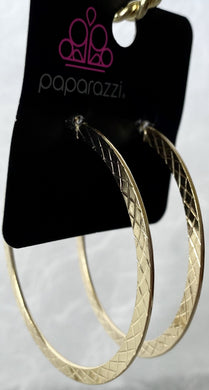 Paparazzi Earrings in Gold Hoops