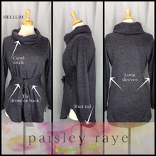 Load image into Gallery viewer, Shop beautiful Paisley Raye Bellum Sweater and more at pineapplesandpalmtrees.net or locally in the Twelve Bridges Community of Lincoln, California.