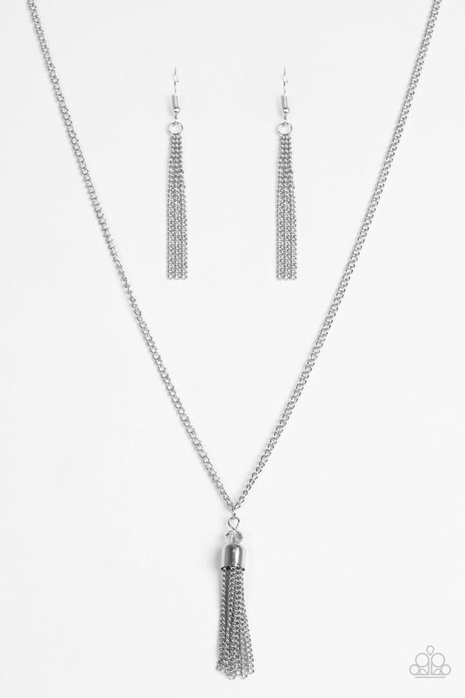 Paparazzi silver Necklace Set