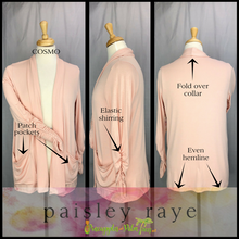 Load image into Gallery viewer, Shop beautiful Paisley Raye Cosmo Cardigan Sweaters and more at pineapplesandpalmtrees.net or locally in the Twelve Bridges Community of Lincoln, California.