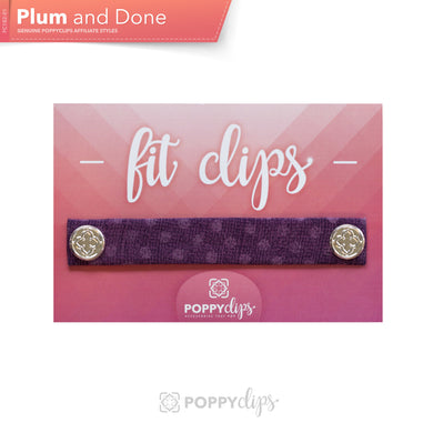 PoppyClips, FitClip: plum with purple polka dots and silver magnets