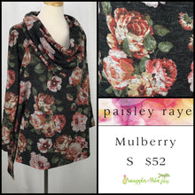 Load image into Gallery viewer, Paisley Raye Mulberry S Charcoal Floral