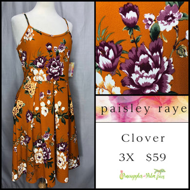 Paisley Raye Clover Dress, M Burnt Orange floral, shop this Paisley Raye Clover Dress and more at pineapplesandpalmtrees.net or locally in the Twelve Bridges Community.Lincoln, California.