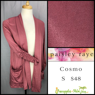 Paisley Raye Cosmo sweater, S solid dusty Rose, shop this Paisley Raye Cosmo and more at pineapplesandpalmtrees.net or locally in the Twelve Bridges Community.Lincoln, California,