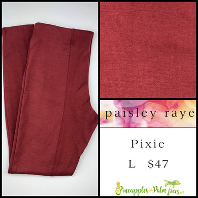 Paisley Raye Pixie Pant Solid Terra Cotta L, shop this Paisley Raye Pixie Pant and more at pineapplesandpalmtrees.net or locally in the Twelve Bridges Community of Lincoln, California.