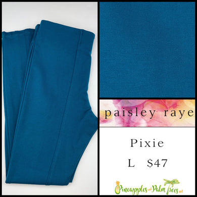 Paisley Raye Pixie Pant Solid Cerulean L, shop this Paisley Raye Pixie Pant and more at pineapplesandpalmtrees.net or locally in the Twelve Bridges Community of Lincoln, California.