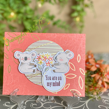 Load image into Gallery viewer, Greeting Card: You are on my mind - koalas with flowers | Stampin' Up's Paper Pumpkin