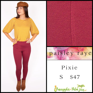 Paisley Raye Pixie pant in S, solid dusty rose, shop this Paisley Raye Pixie Pant and more at pineapplesandpalmtrees.net or locally in the Twelve Bridges Community of Lincoln, California.