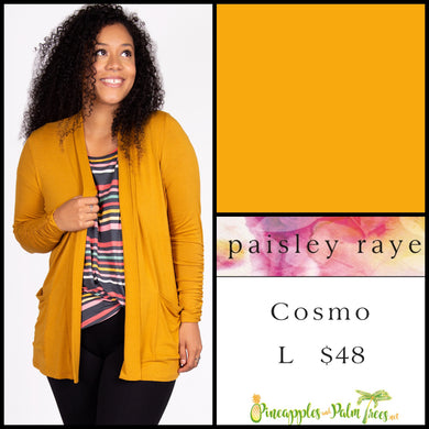 Paisley Raye Cosmo sweater L solid mustard, shop this Paisley Raye Cosmo and more at pineapplesandpalmtrees.net or locally in the Twelve Bridges Community.Lincoln, California,