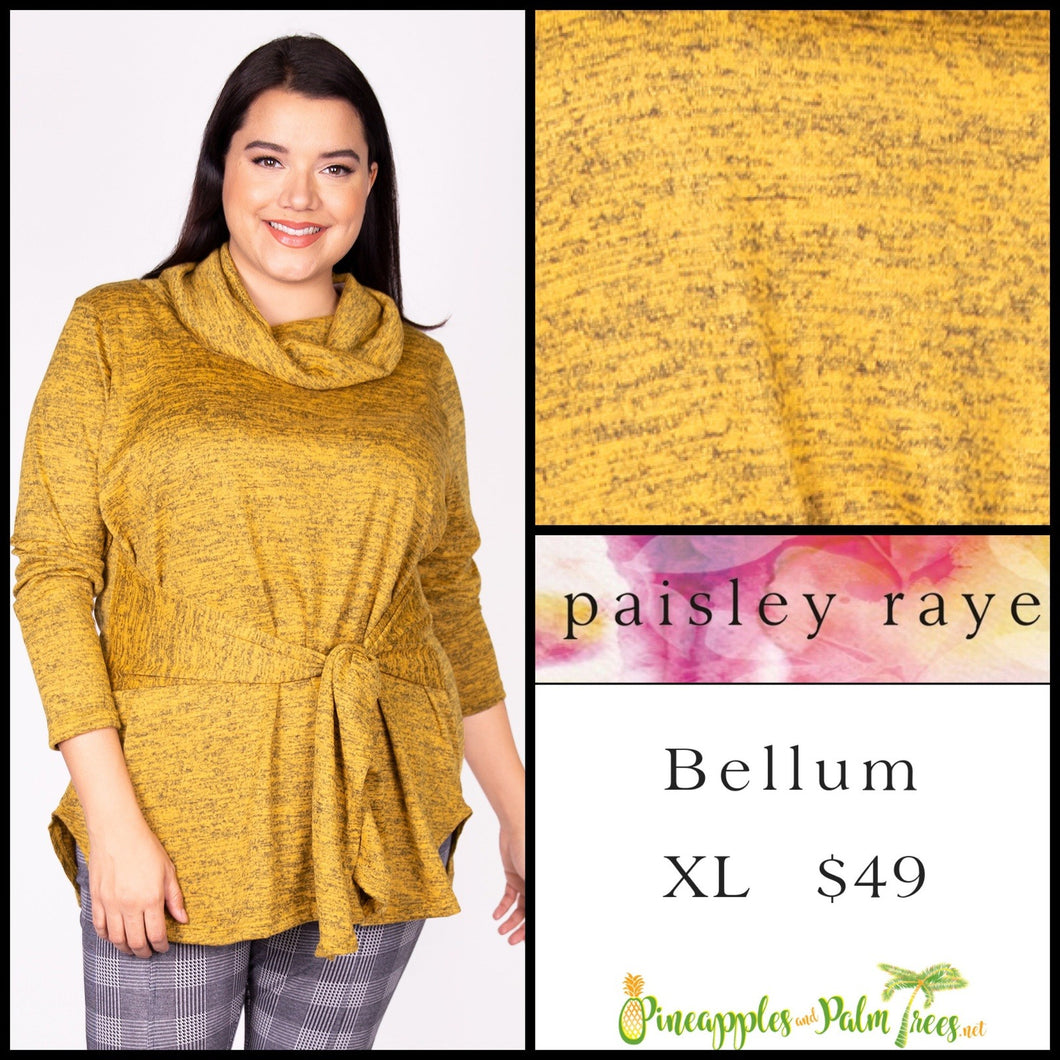 Paisley Raye Bellum Sweater, XL, heathered Mustard, shop this beautiful Paisley Raye Bellum sweater and more at pineapplesandpalmtrees.net or locally in the Twelve Bridges Community of Lincoln, California.