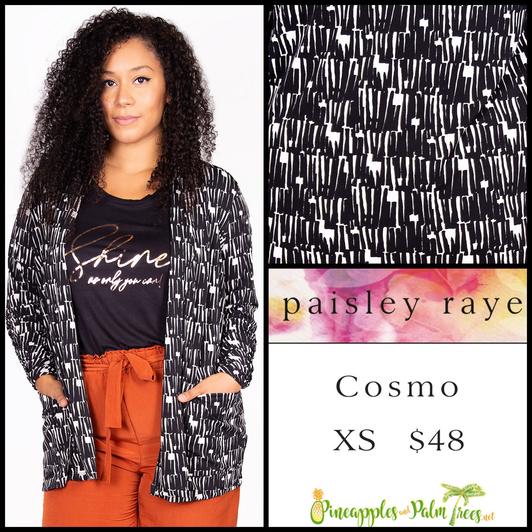 Paisley Raye Cosmo sweater, XS black white, shop this Paisley Raye Cosmo and more at pineapplesandpalmtrees.net or locally in the Twelve Bridges Community.Lincoln, California,