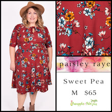 Load image into Gallery viewer, Paisley Raye Sweet Pea Dress, M Red floral, shop this Paisley Raye Sweet Pea Dress and more at pineapplesandpalmtrees.net or locally in the Twelve Bridges Community of Lincoln, California.