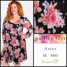 Load image into Gallery viewer, Paisley Raye Aster M Black Floral, shop the Paisley Raye Aster dress at pineapplesandpalmtrees.net or locally in Lincoln, California, in the Twelve Bridges Community.