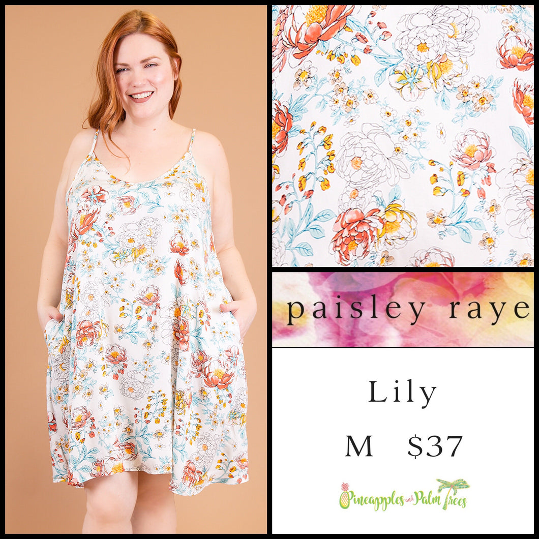 Paisley Raye Lily Dress S Black Floral, shop this Paisley Raye Lily Dress and more at pineapplesandpalmtrees.net or locally in Lincoln, California, in the Twelve Bridges Community.