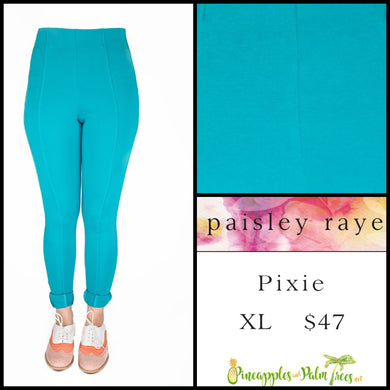 Paisley Raye Pixie Pant Solid Aqua, XL, shop this Paisley Raye Pixie Pant and more at pineapplesandpalmtrees.net or locally in the Twelve Bridges Community of Lincoln, California.