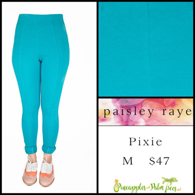 Paisley Raye Pixie Pant Solid Aqua, M, shop this Paisley Raye Pixie Pant and more at pineapplesandpalmtrees.net or locally in the Twelve Bridges Community of Lincoln, California.