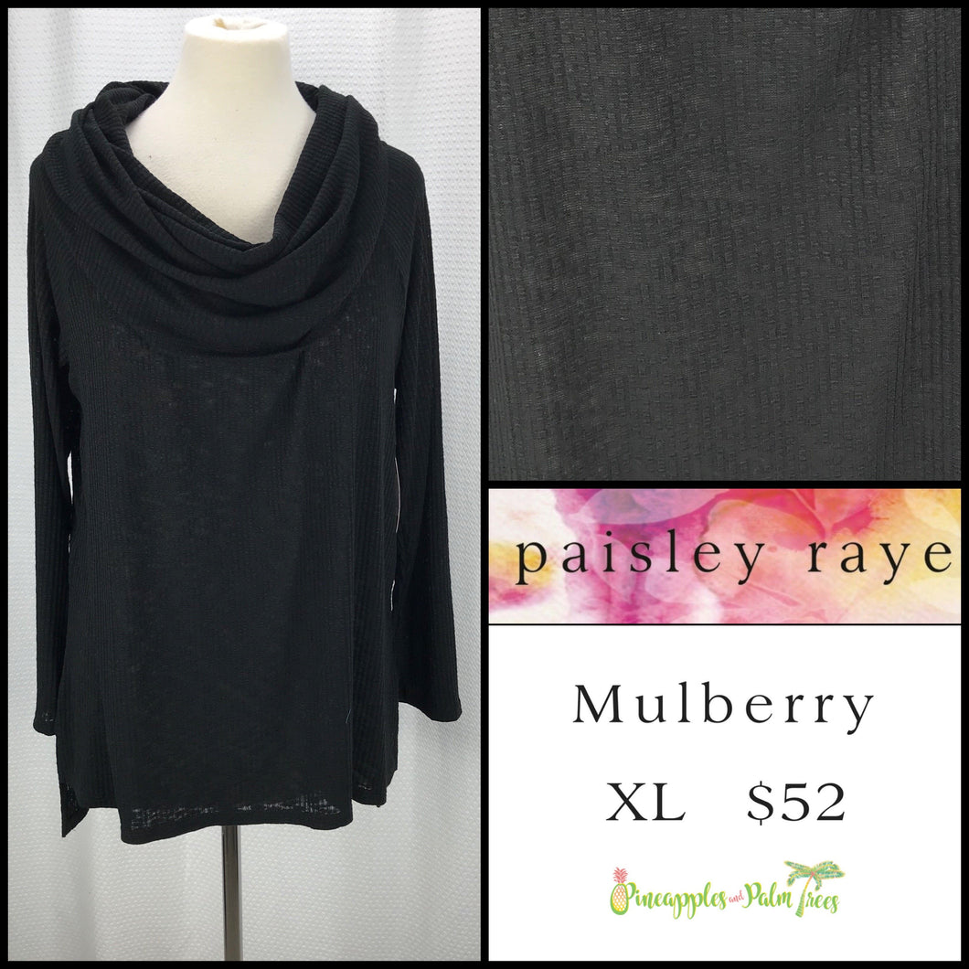 Paisley Raye Mulberry XL Black Solid