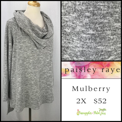 Paisley Raye Mulberry 2X Heathered Gray