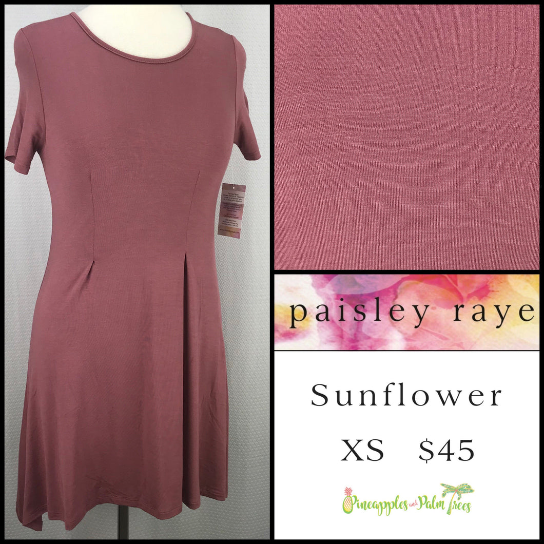 Paisley Raye Sunflower top solid Mauve XS, shop this Paisley Raye Sunflower Top and more at pineapplesandpalmtrees.net or locally in the Twelve Bridges Community of Lincoln, California.