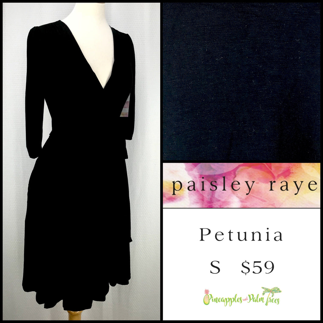 Paisley Raye Petunia Dress, Solid Black S, shop this Paisley Raye Petunia Dress and more at pineapplesandpalmtrees.net or locally in the Twelve Bridges Community of Lincoln, California.