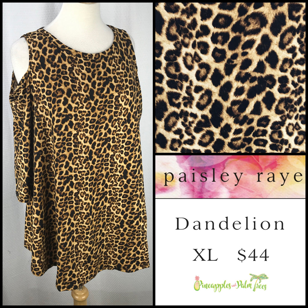 Paisley Raye Dandelion, XL Animal print, shop this Paisley Raye Dandelion Top and more at pineapplesandpalmtrees.net or locally in the Twelve Bridges Community.Lincoln, California.