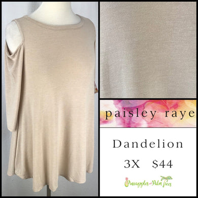 Paisley Raye Dandelion 3X Wheat Solid, shop this Paisley Raye Dandelion Top and more at pineapplesandpalmtrees.net or locally in the Twelve Bridges Community.Lincoln, California.