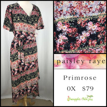 Load image into Gallery viewer, Paisley Raye Primrose 0X Black Floral, shop this Paisley Raye Primrose Dress and more at pineapplesandpalmtrees.net or locally in the Twelve Bridges Community of Lincoln, California.