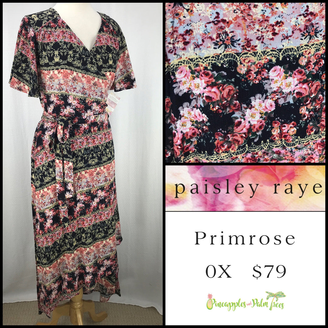 Paisley Raye Primrose 0X Black Floral, shop this Paisley Raye Primrose Dress and more at pineapplesandpalmtrees.net or locally in the Twelve Bridges Community of Lincoln, California.