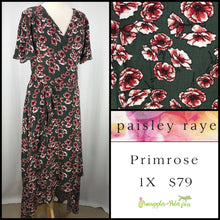 Load image into Gallery viewer, Paisley Raye Primrose Olive Floral, shop this Paisley Raye Primrose Dress and more at pineapplesandpalmtrees.net or locally in the Twelve Bridges Community of Lincoln, California.