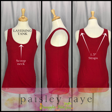 Load image into Gallery viewer, Shop beautiful Paisley Raye Layering Tanks and more at pineapplesandpalmtrees.net or locally in the Twelve Bridges Community of Lincoln, California.