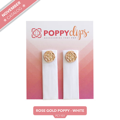 PoppyClips Accessory White Rose Gold
