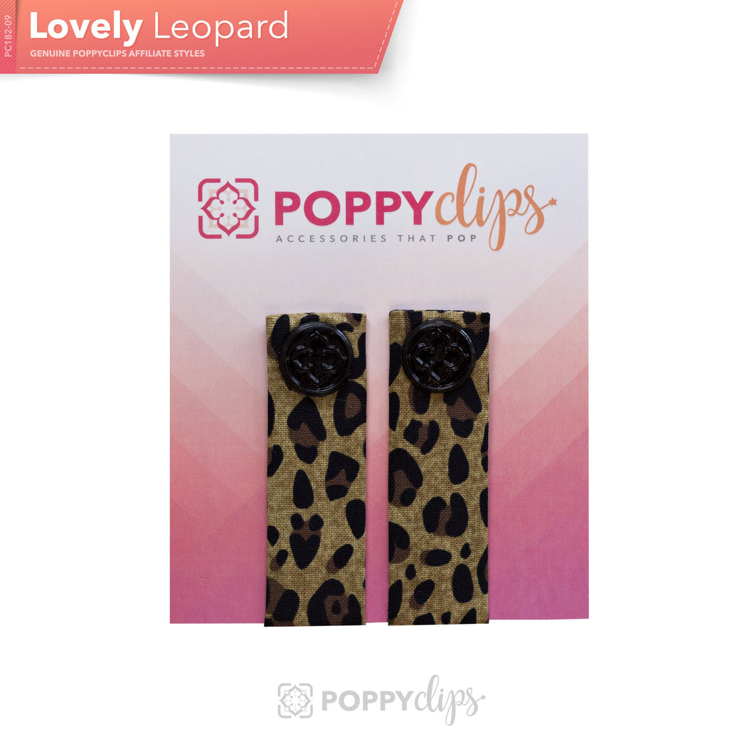 PoppyClips Accessory Brown Leopard with Black