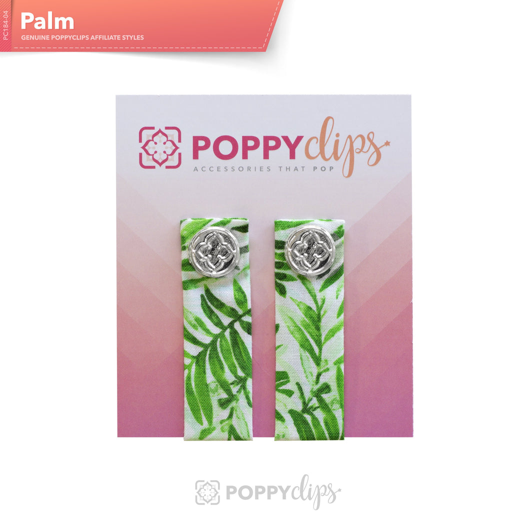 PoppyClips Accessory White and Green with Silver