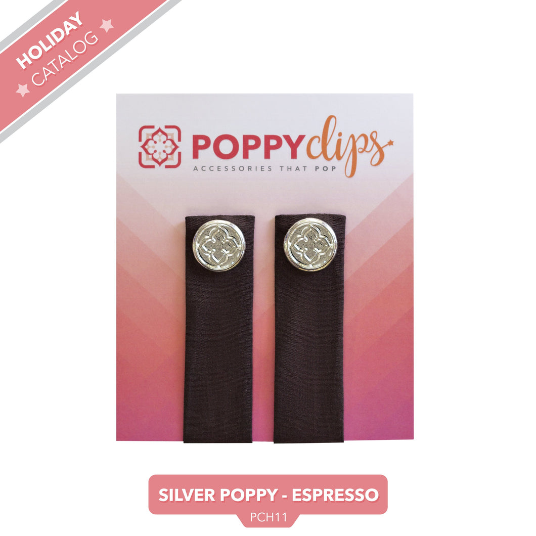 PoppyClips Accessory Espresso with Silver