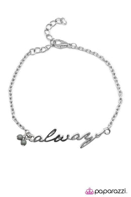 Bracelet: This I Promise You - silver with gray beads | Paparazzi Jewelry