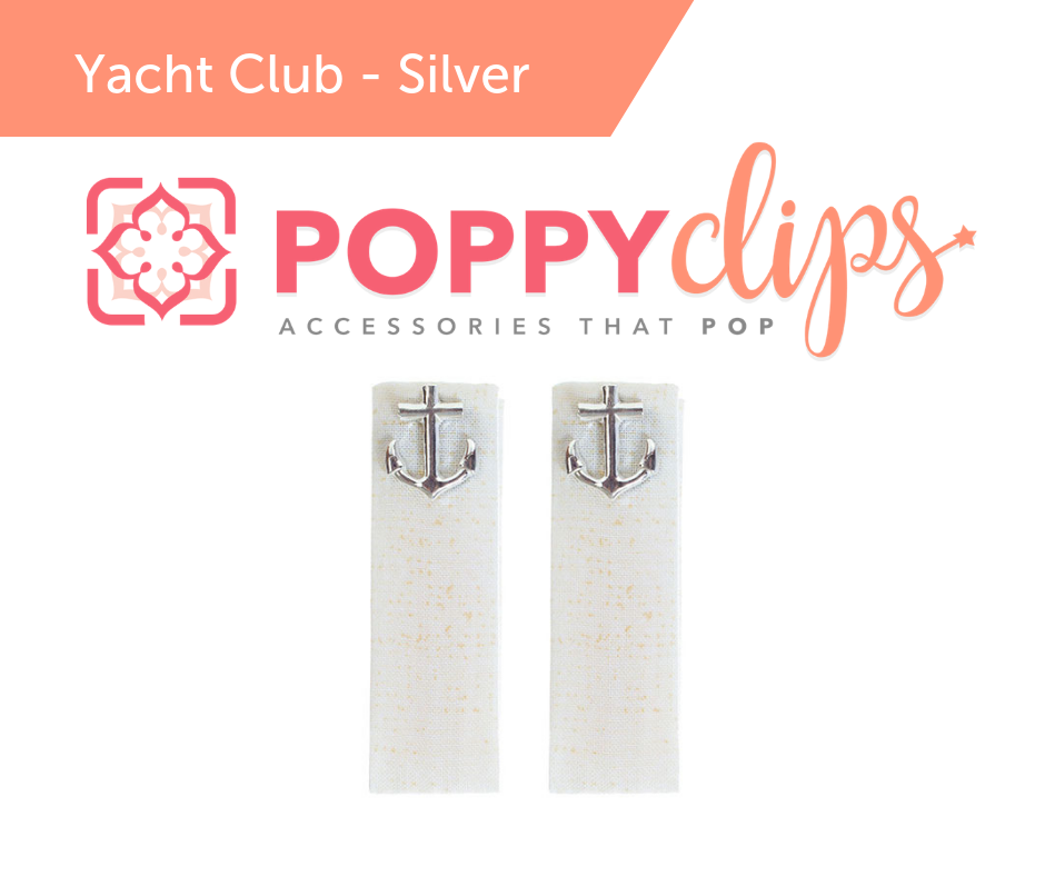 PoppyClips Accessory White, Blond, Yellow, Silver, Anchor