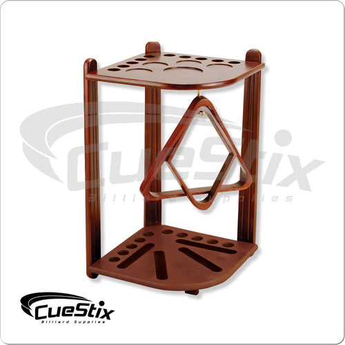 Chocolate 10 Cue Floor Rack