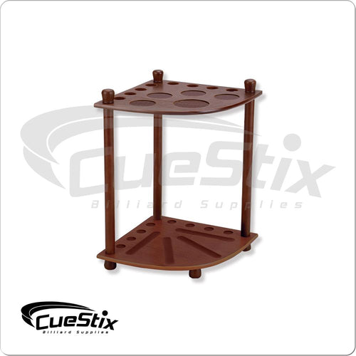 Chocolate 8 Cue Floor Rack